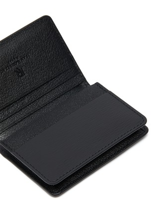 Detail View - Click To Enlarge - JEAN ROUSSEAU - Embossed calfskin leather business cardholder