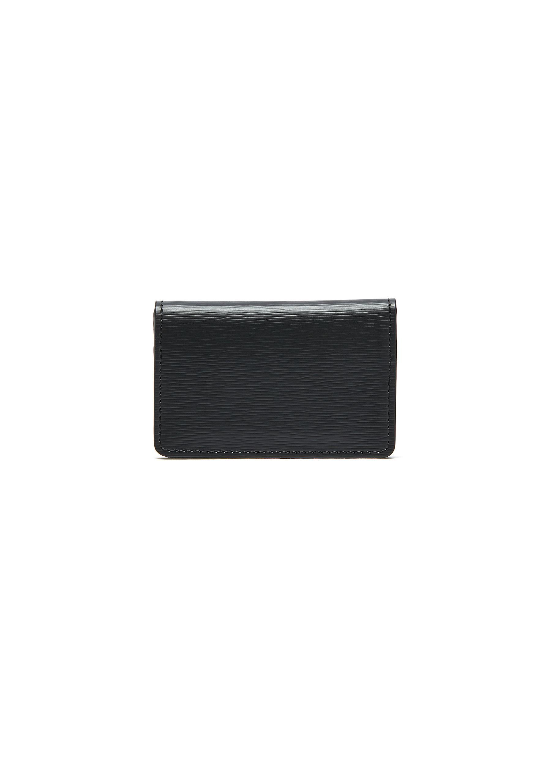 Embossed calfskin leather business cardholder