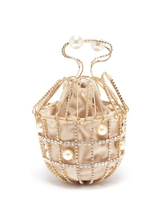 Main View - Click To Enlarge - ROSANTICA - 'Ginestra' faux pearl cage top handle bag