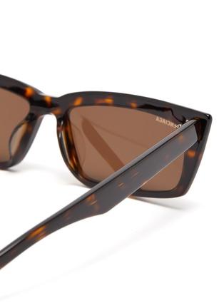 Detail View - Click To Enlarge - BALENCIAGA - Tortoiseshell effect acetate frame rectangular cat eye sunglasses