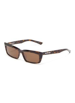 Main View - Click To Enlarge - BALENCIAGA - Tortoiseshell effect acetate frame rectangular cat eye sunglasses