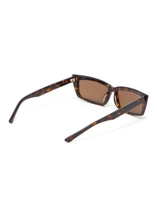 Figure View - Click To Enlarge - BALENCIAGA - Tortoiseshell effect acetate frame rectangular cat eye sunglasses