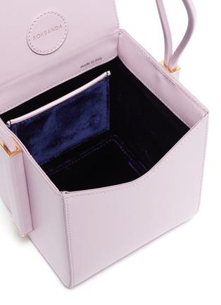 Detail View - Click To Enlarge - ROKSANDA - Leather box bag