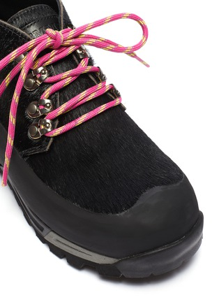 Detail View - Click To Enlarge - DIEMME - 'Asiago' calf hair chunky hiker boots