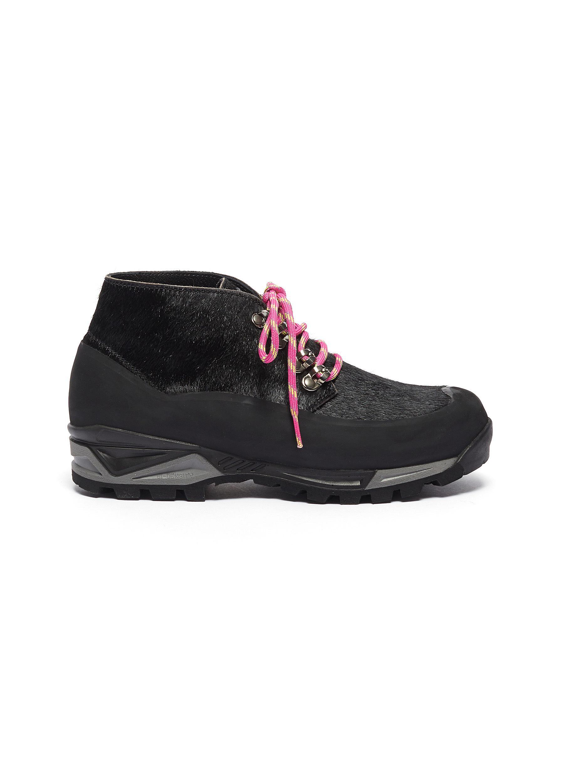 Diemme Sneakers Asiago calf hair chunky hiker boots