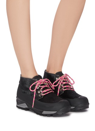 Figure View - Click To Enlarge - DIEMME - 'Asiago' calf hair chunky hiker boots
