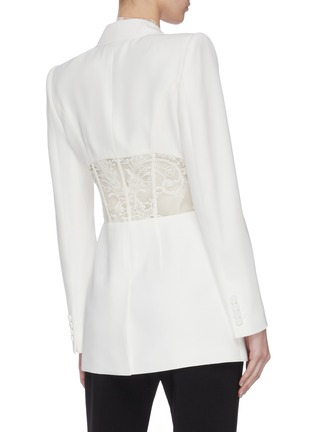 Back View - Click To Enlarge - ALEXANDER MCQUEEN - Lace panel blazer