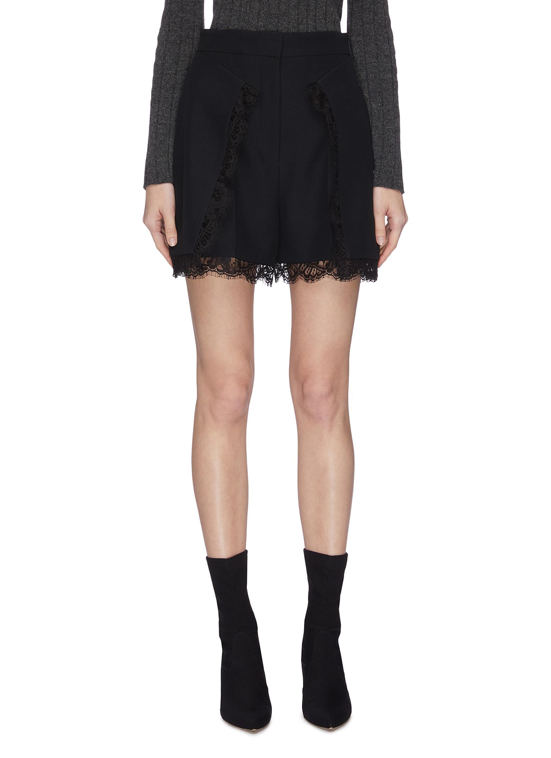 shop Alexander Mcqueen Lace hem tailored shorts online