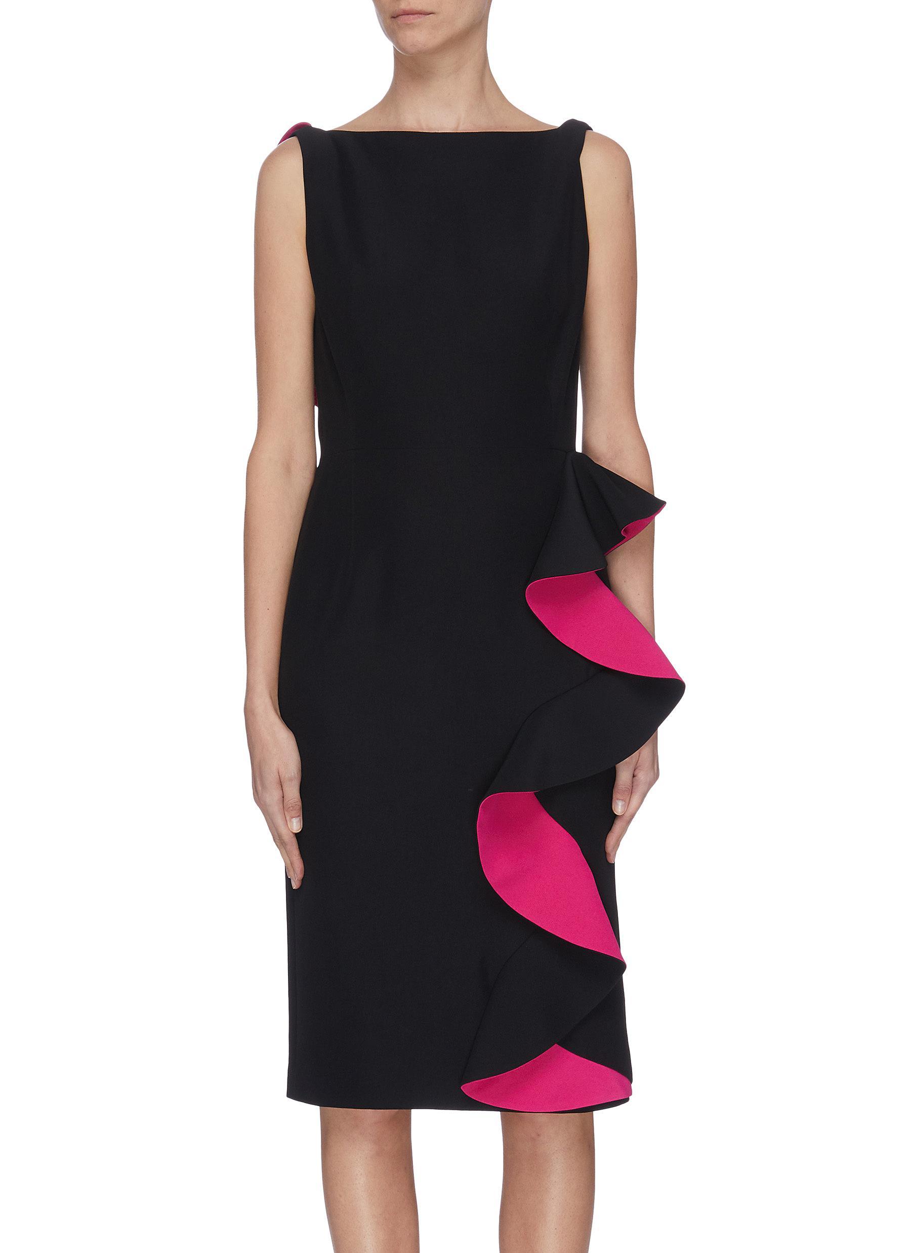 shop Alexander Mcqueen Ruffled detail sleeveless dress online