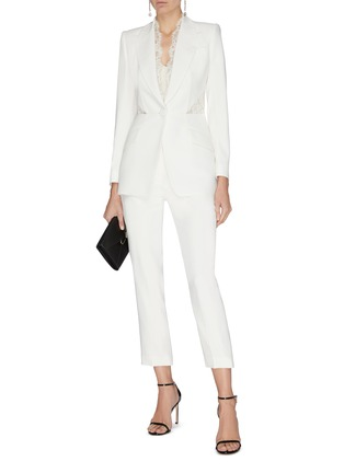 Figure View - Click To Enlarge - ALEXANDER MCQUEEN - Cropped tailor pants