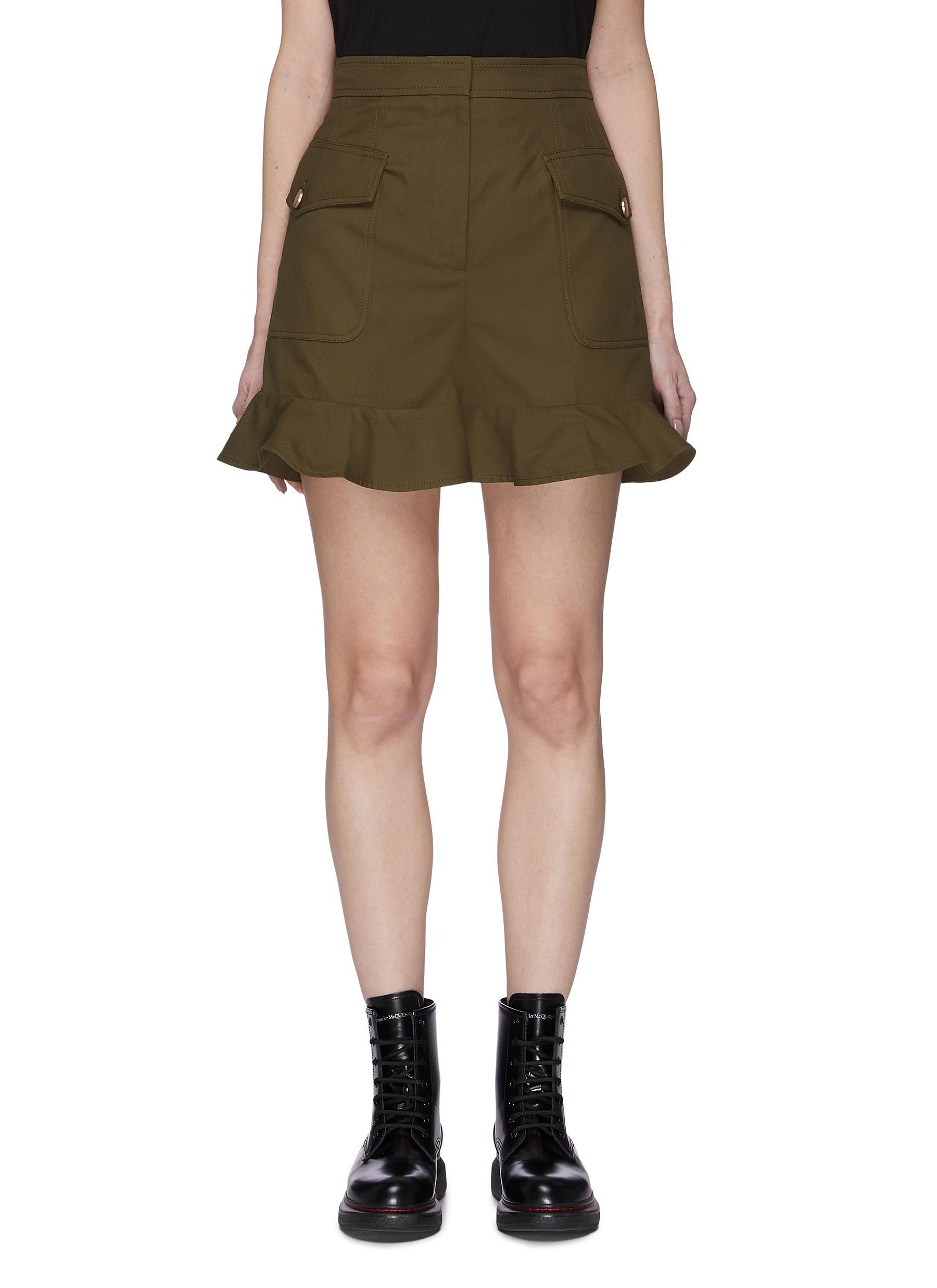 shop Alexander Mcqueen Ruffle Hem Shorts online
