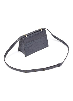 Detail View - Click To Enlarge - DEMELLIER - 'The Mini Copenhagen' croc embossed leather crossbody bag