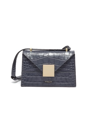 Main View - Click To Enlarge - DEMELLIER - 'The Mini Copenhagen' croc embossed leather crossbody bag