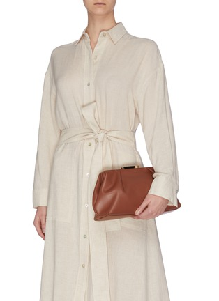 Figure View - Click To Enlarge - DEMELLIER - 'Florence' soft leather clutch