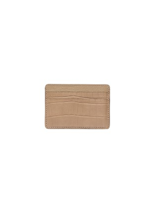 Main View - Click To Enlarge - JEAN ROUSSEAU - 'Essentiel' alligator leather slim cardholder