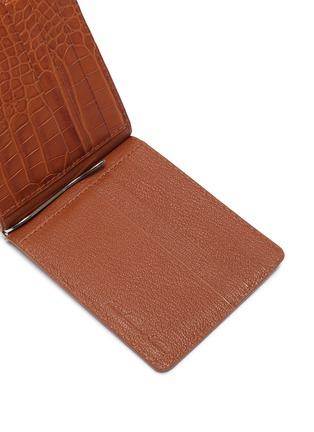 Detail View - Click To Enlarge - JEAN ROUSSEAU - Alligator leather money clip wallet