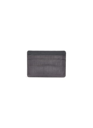 Main View - Click To Enlarge - JEAN ROUSSEAU - 'Essentiel' alligator leather slim cardholder