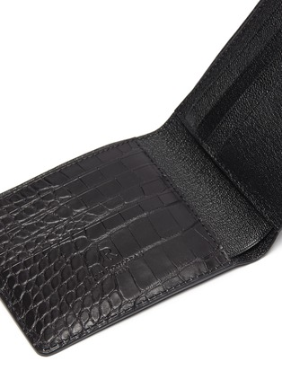Detail View - Click To Enlarge - JEAN ROUSSEAU - Hipster' alligator leather bi fold wallet