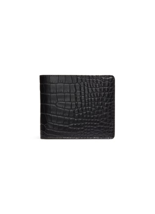 Main View - Click To Enlarge - JEAN ROUSSEAU - Hipster' alligator leather bi fold wallet