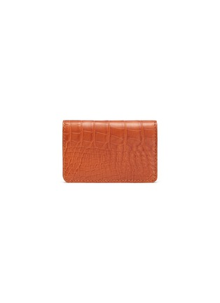 Main View - Click To Enlarge - JEAN ROUSSEAU - Alligator leather business cardholder
