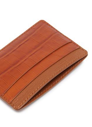 Detail View - Click To Enlarge - JEAN ROUSSEAU - 'Essentiel' alligator leather slim cardholder