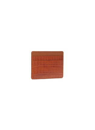 Figure View - Click To Enlarge - JEAN ROUSSEAU - 'Essentiel' alligator leather slim cardholder