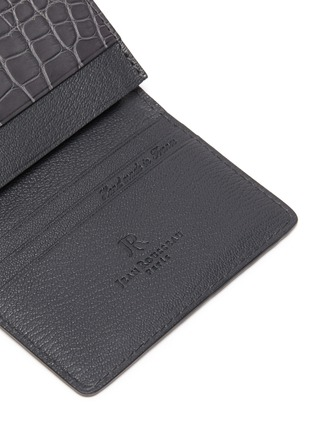 Detail View - Click To Enlarge - JEAN ROUSSEAU - Alligator leather business cardholder