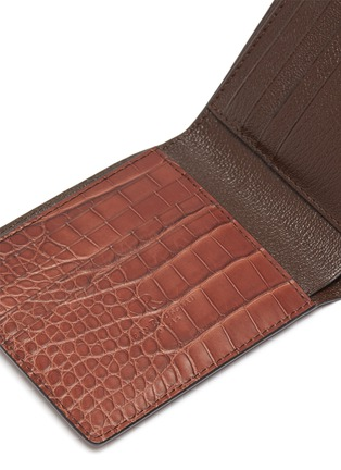Detail View - Click To Enlarge - JEAN ROUSSEAU - 'Hipster' alligator leather bi fold wallet
