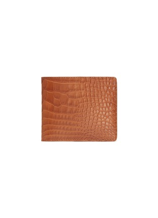 Main View - Click To Enlarge - JEAN ROUSSEAU - 'Hipster' alligator leather bi fold wallet