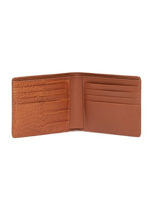 Figure View - Click To Enlarge - JEAN ROUSSEAU - 'Hipster' alligator leather bi fold wallet