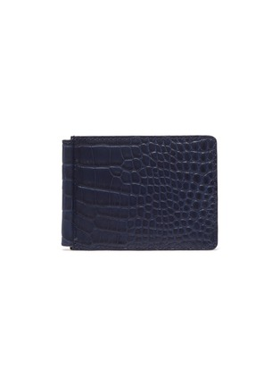 Main View - Click To Enlarge - JEAN ROUSSEAU - Alligator leather money clip wallet