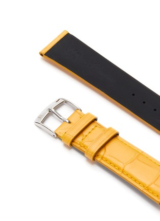 Detail View - Click To Enlarge - JEAN ROUSSEAU - Alligator leather watch strap