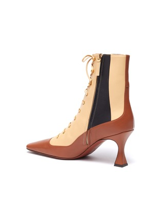 - MANU ATELIER - 'Duck' Colourblock Lace Up Leather Ankle Boots