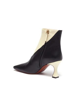 - MANU ATELIER - 'XX Duck' Colourblock Leather Ankle Boots