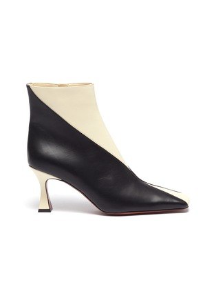 Main View - Click To Enlarge - MANU ATELIER - 'XX Duck' Colourblock Leather Ankle Boots