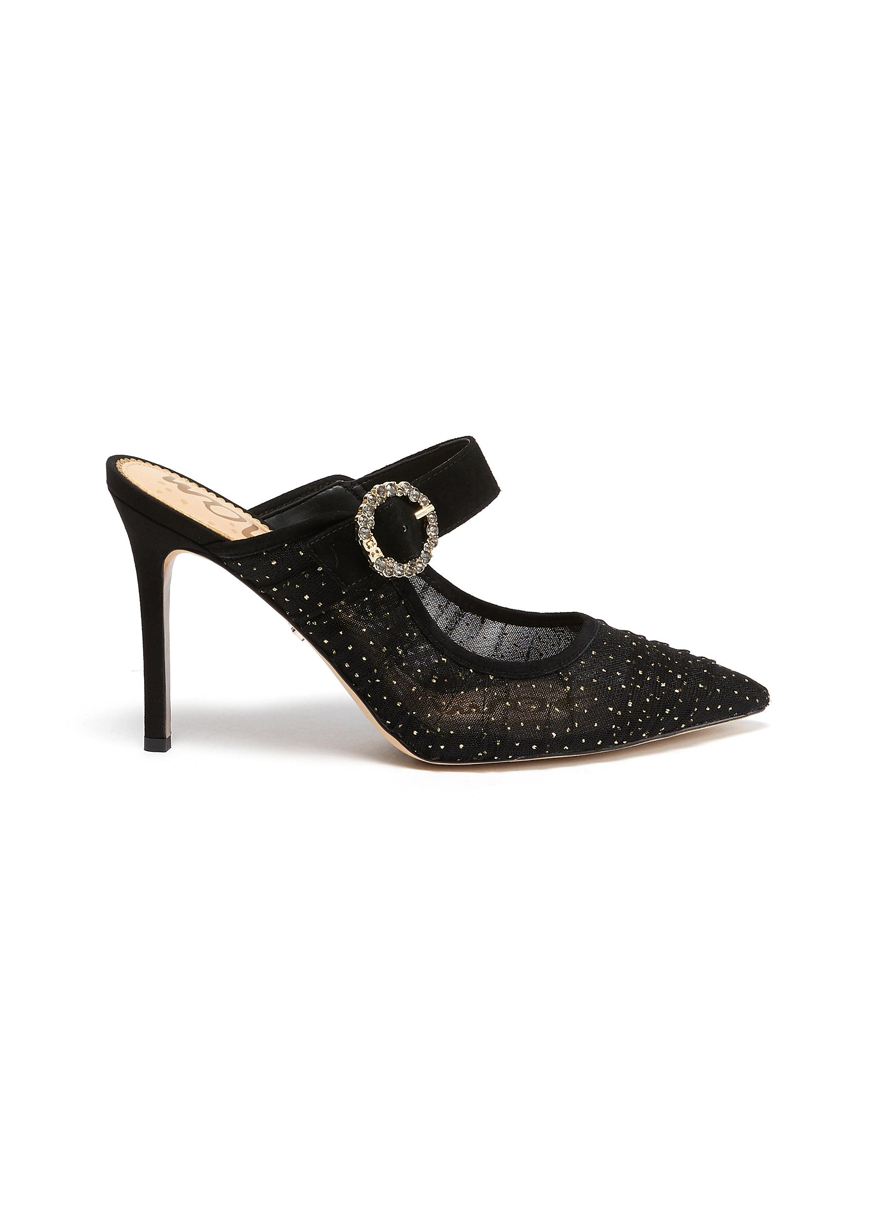 Sam Edelman Mules 'Halo' strap buckle embellished mules