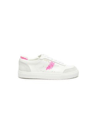 Main View - Click To Enlarge - AXEL ARIGATO - 'Dunk Scribble' kids leather sneakers
