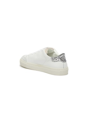 Detail View - Click To Enlarge - AXEL ARIGATO - 'Clean 90 Triple' glitter detail kids leather sneakers