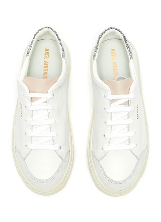 Figure View - Click To Enlarge - AXEL ARIGATO - 'Clean 90 Triple' glitter detail kids leather sneakers
