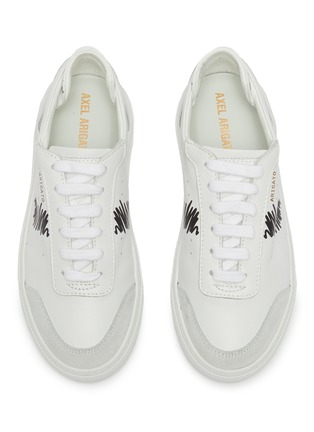 Figure View - Click To Enlarge - AXEL ARIGATO - 'Dunk Scribble' kids leather sneakers