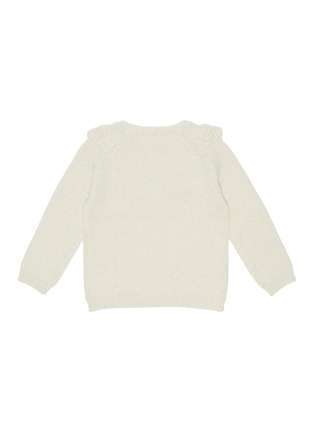 Figure View - Click To Enlarge - BONTON - Kids ruffle knit alpaca blend sweater