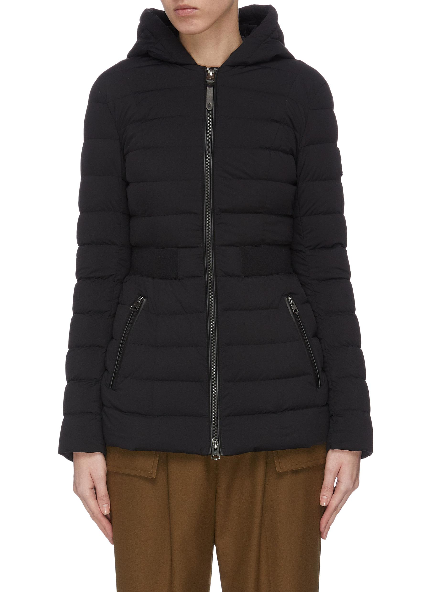 shop Mackage 'Kaila' cinched waist hooded puffer coat online