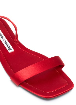Detail View - Click To Enlarge - ALEXANDER WANG - Fold up satin sandals