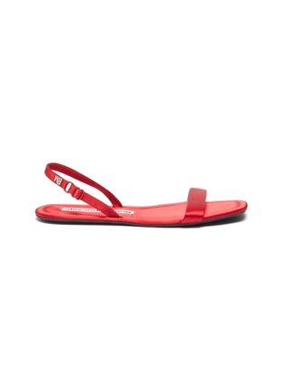 Main View - Click To Enlarge - ALEXANDER WANG - Fold up satin sandals