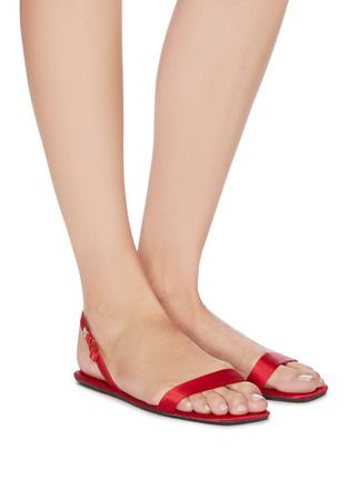 Figure View - Click To Enlarge - ALEXANDER WANG - Fold up satin sandals