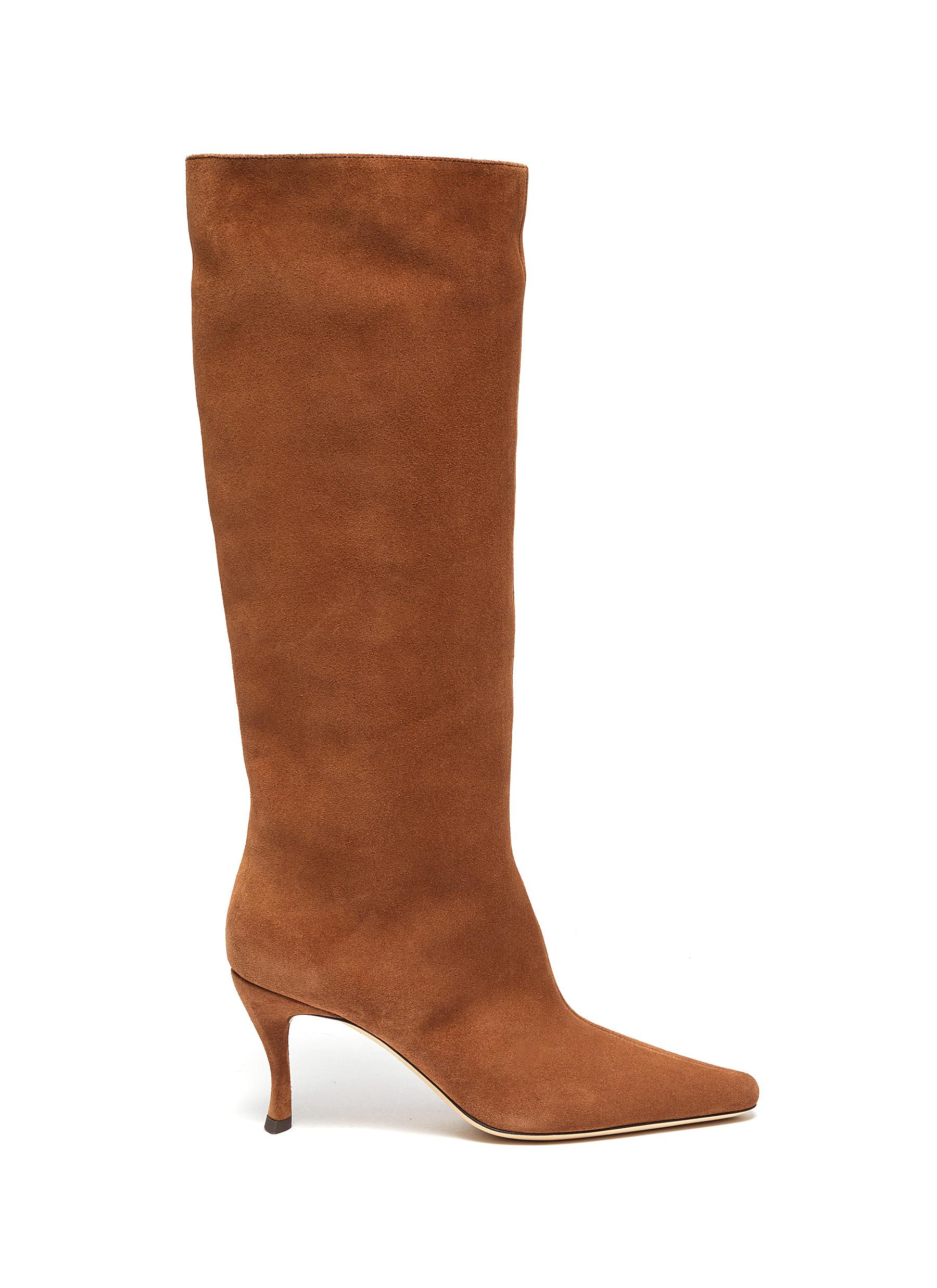 By Far Boots Stevie suede thigh high boots