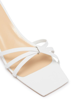 Detail View - Click To Enlarge - BY FAR - 'Kaia' strappy leather heeled sandals