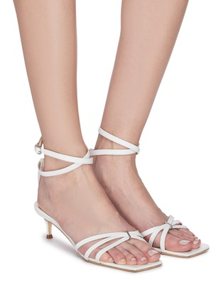 Figure View - Click To Enlarge - BY FAR - 'Kaia' strappy leather heeled sandals