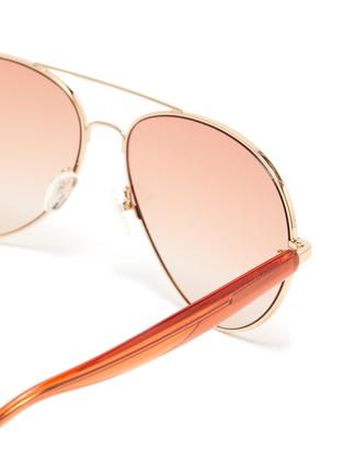 Detail View - Click To Enlarge - MATTHEW WILLIAMSON - Metal frame wire-core temples aviator sunglasses
