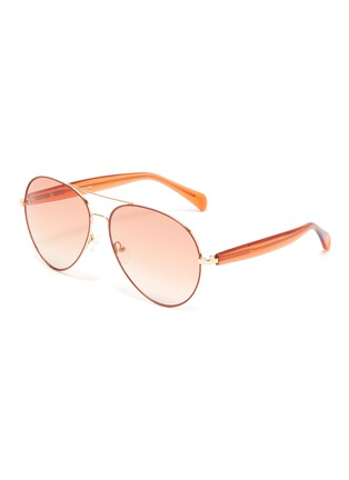 Main View - Click To Enlarge - MATTHEW WILLIAMSON - Metal frame wire-core temples aviator sunglasses